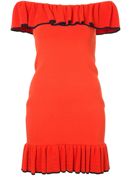 Rebecca Vallance dress mini dress mini women yellow orange