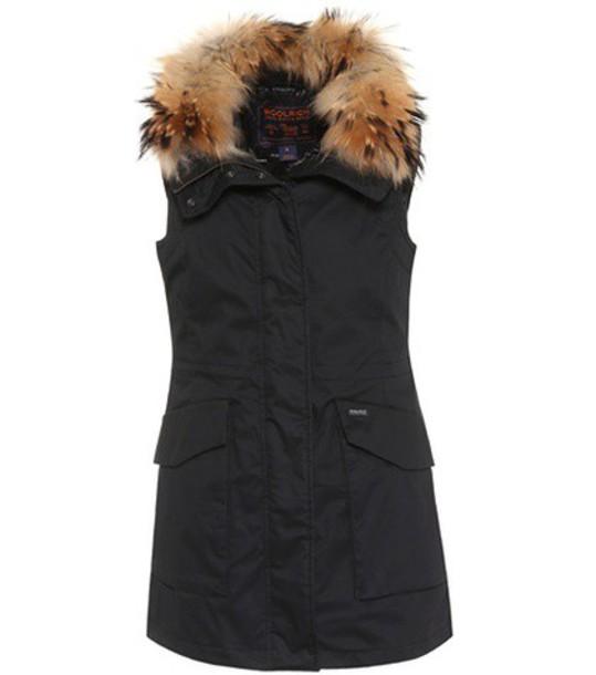 Woolrich vest fur black jacket