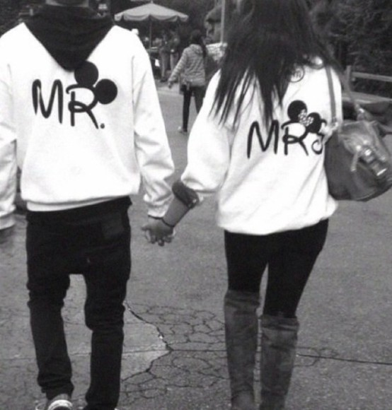 forever sweater disney disney clothes white white hoodie hoodie minnie mouse minnie and mickey minnie mickey mouse cute cute hoodie relationship couple sweaters matching disney sweater disneyland paris