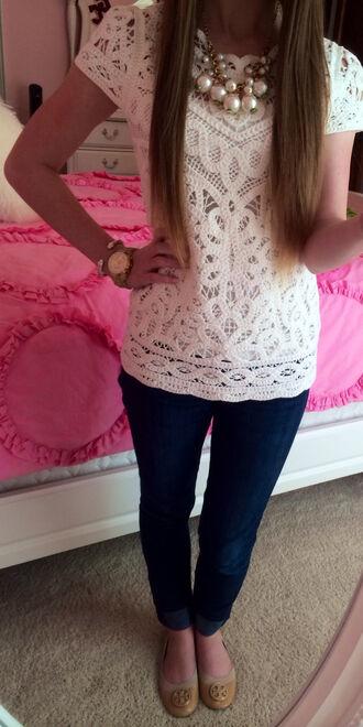 shoes white cute jewels shirt crochet white crochet top short sleeve clothes preppy top lace blouse lace shirt style