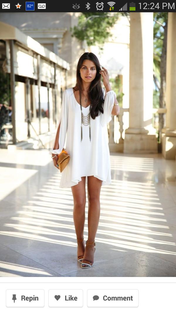 dress white dress boho boho dress white