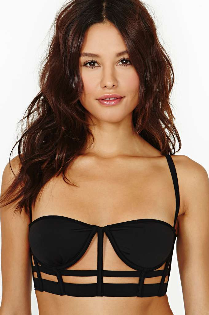 Raven Cage Bustier  in  Clothes Lingerie at Nasty Gal