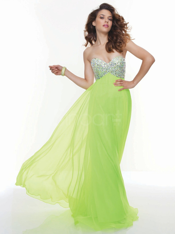 dress long chiffon dress for prom and homecoming have some sequnins sleeveless dress
