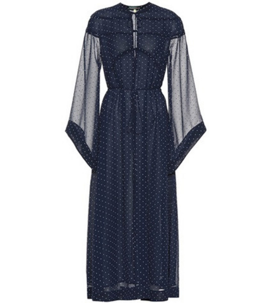 AlexaChung Polka-dot dress in blue
