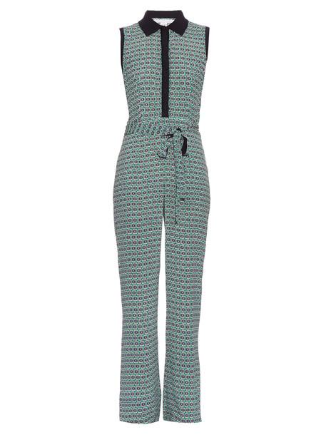 DIANE VON FURSTENBERG Trista jumpsuit in green / multi