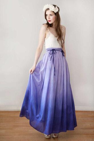dress skirt maxi skirt ombre purple ombre purple skirt