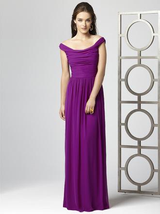 dress bridesmaid long dress chiffon off the shoulder purple purple dress purple bridesmaid dresses 2012