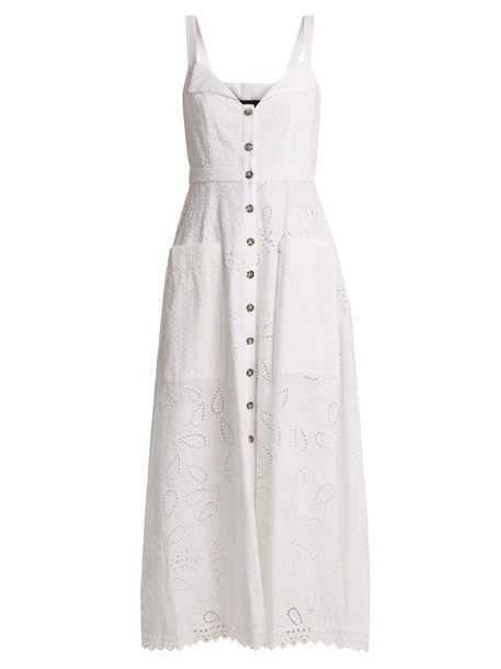 Saloni dress midi dress midi cotton white