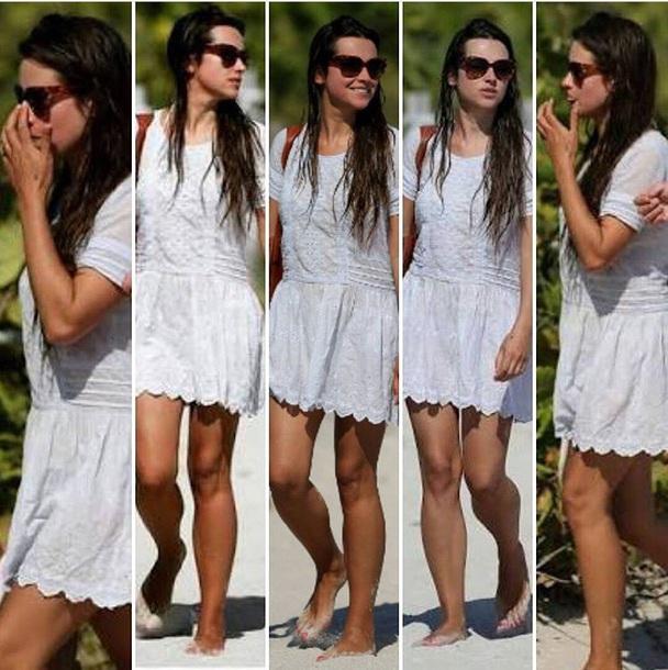dress white white dress amelia warner cut-out beach dress