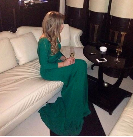 dress green dress prom dress forest green