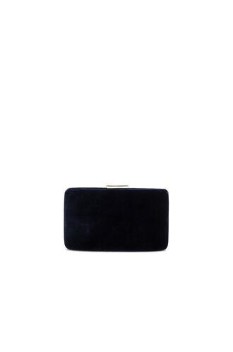 clutch velvet navy bag