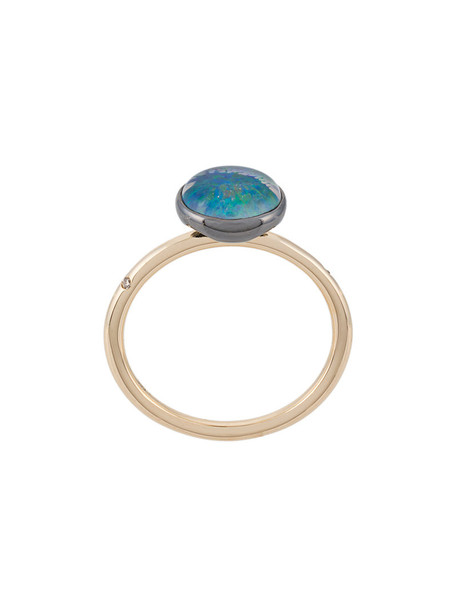 Astley Clarke women opal ring gold blue jewels