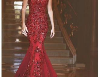 2016 Formal Dresses Red Elegant Mer..