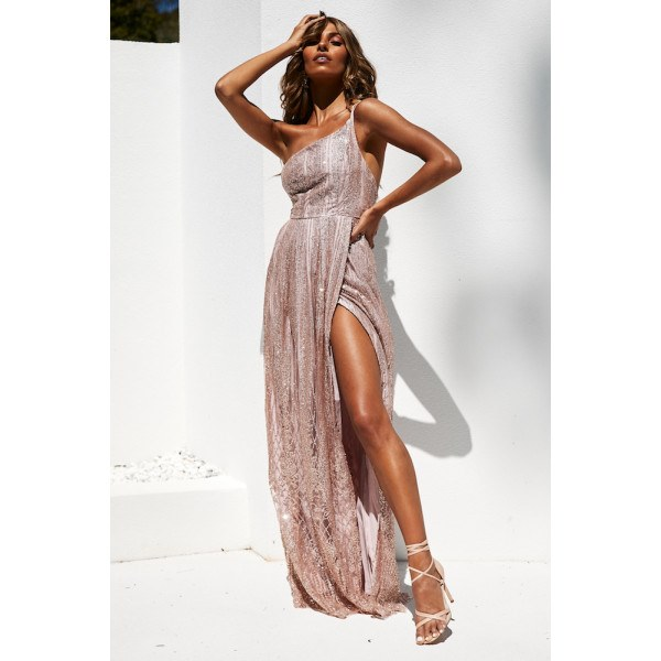 Acciaroli Maxi Dress Rose Gold