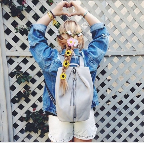 bag zipper backpack blue