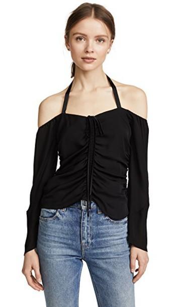 Cinq a Sept top silk black