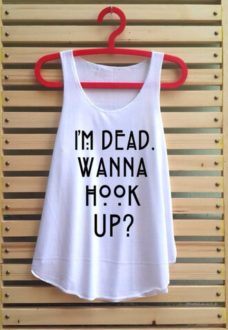 american horror story ahs alternative t-shirt quote on it t shirt with words printed crop top tee love quotes
