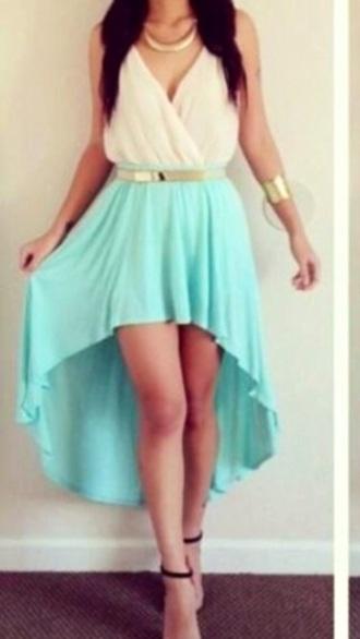 dress high low dress white blue white dress blue dress
