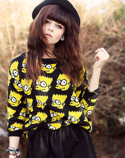 Bart simpson sweater · fashion struck · online store powered by storenvy