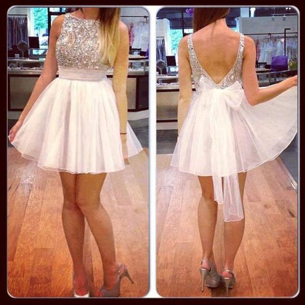 dress glitter dress bow prom dress