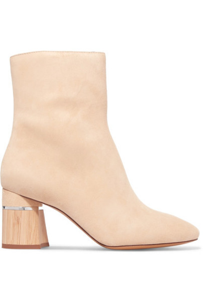 suede ankle boots ankle boots suede cream shoes
