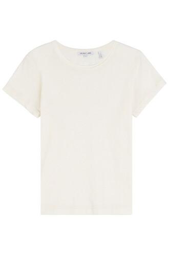 t-shirt shirt cotton beige top