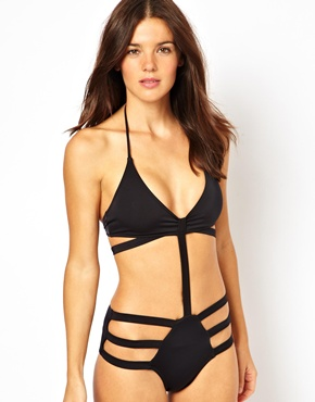 ASOS | ASOS Strappy Cut Out Swimsuit at ASOS
