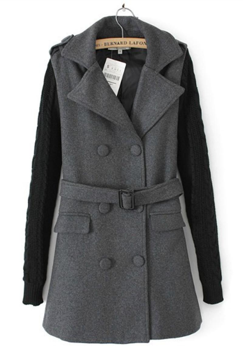 Autumn & Winter New Section Slim Long Section Woolen Overcoat,Cheap in Wendybox.com