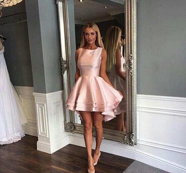 3c9d8ed0137675 dress, rose gold, cute dress, pink dress, party dress, pink, classy ...