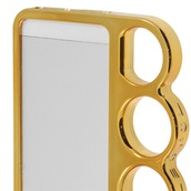 phone cover,knuckle ring,iphone case,cute,gold