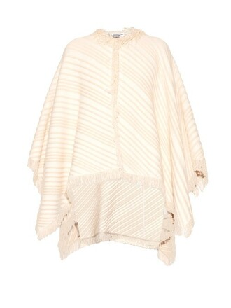 poncho knit cotton white top