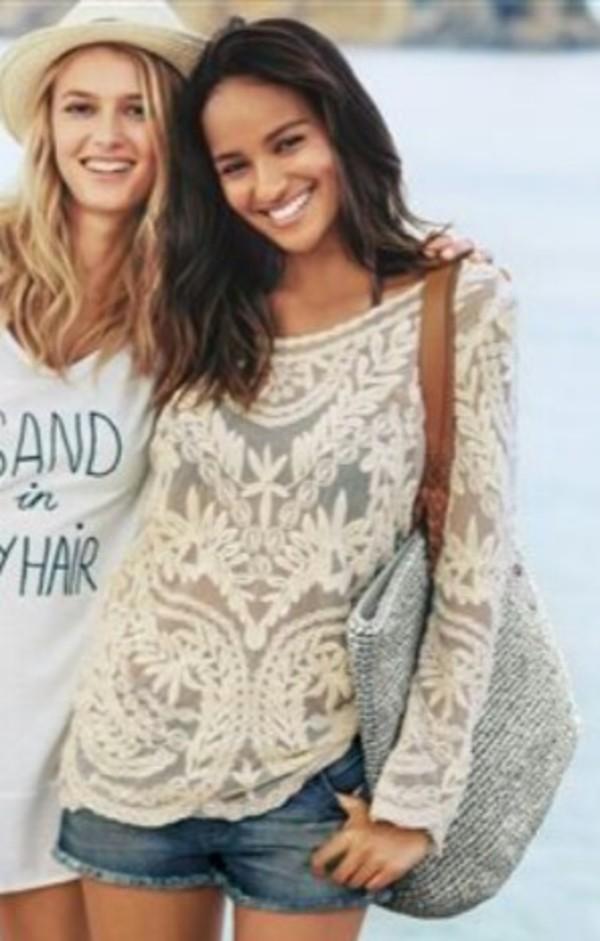 shirt white kaftan kaftan crochet beach summer oversized long dress cream dress