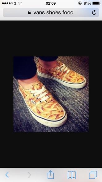 shoes vans chips food