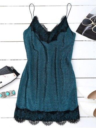 dress fashion velvet blue girly style mini dress zaful