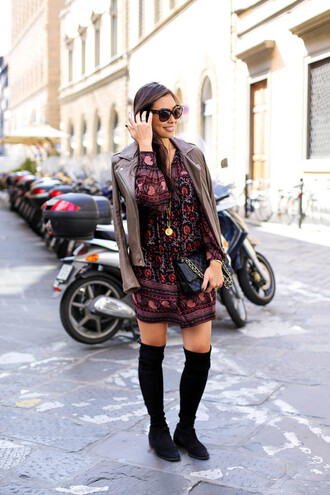 with love from kat blogger dress jacket shoes bag