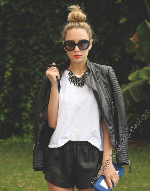 Biker Style Leather Jacket - All