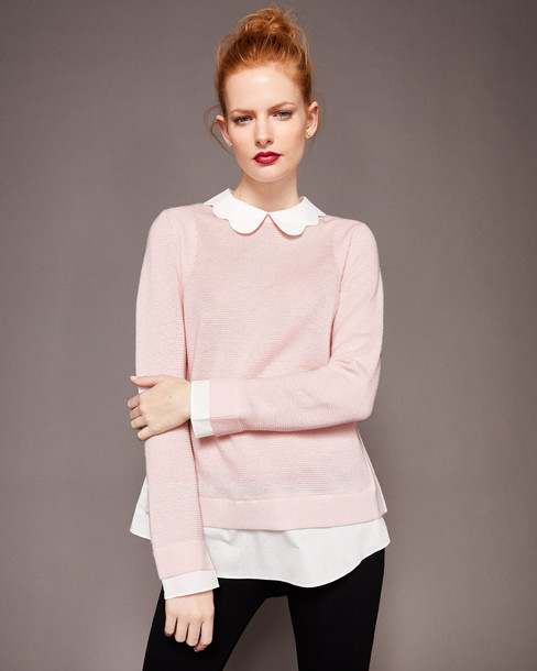Ted Baker sweater pale pink