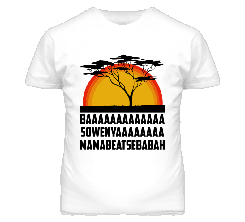 Sunrise Tree Lion Cartoon Movie Parody T Shirt