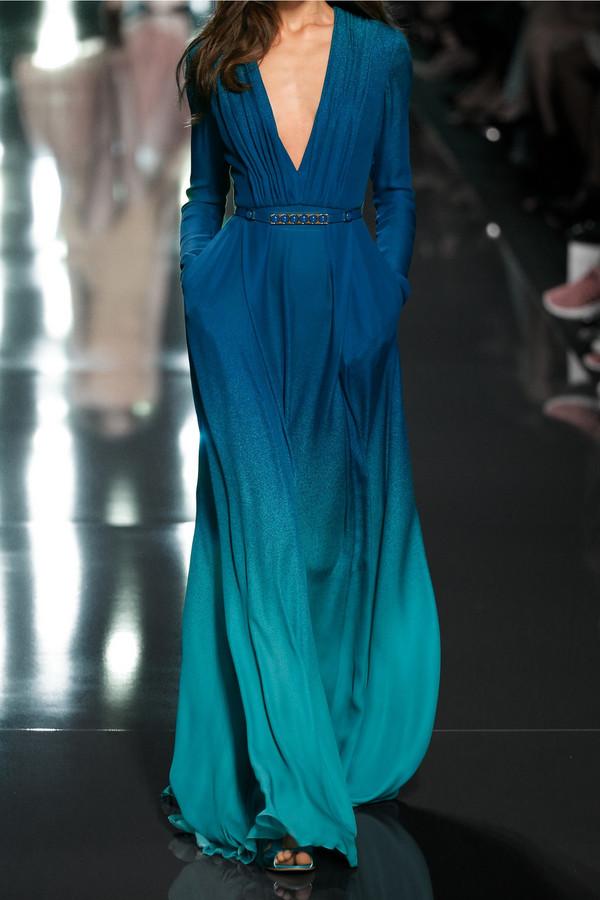 Aliexpress Buy Gradient Prom Dress Plus Size Long Sleeve