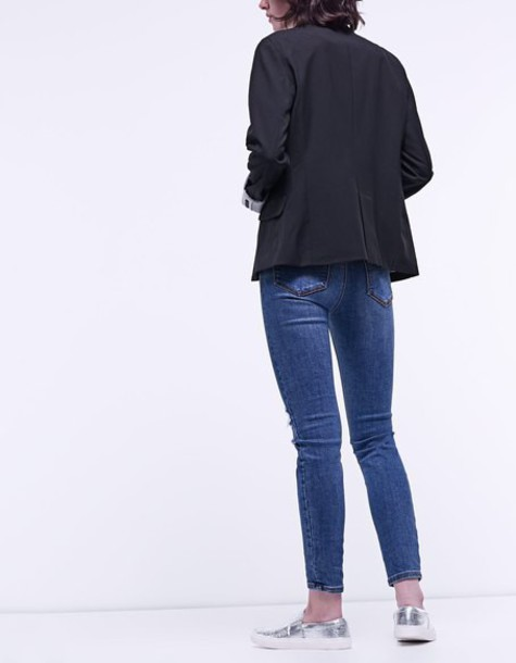 Stradivarius blazer black jacket