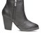 Side zip chunky cone bootie