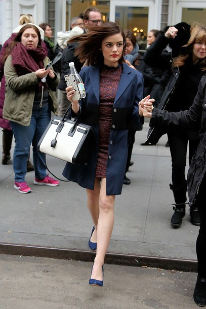 dress coat pumps navy burgundy dress lucy hale fall outfits shoes