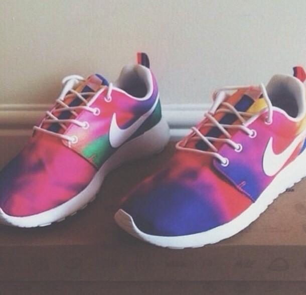 shoes, nike, colorful, rainbow