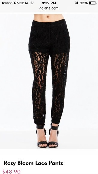 white lace pants pants lace pants , lace leggings