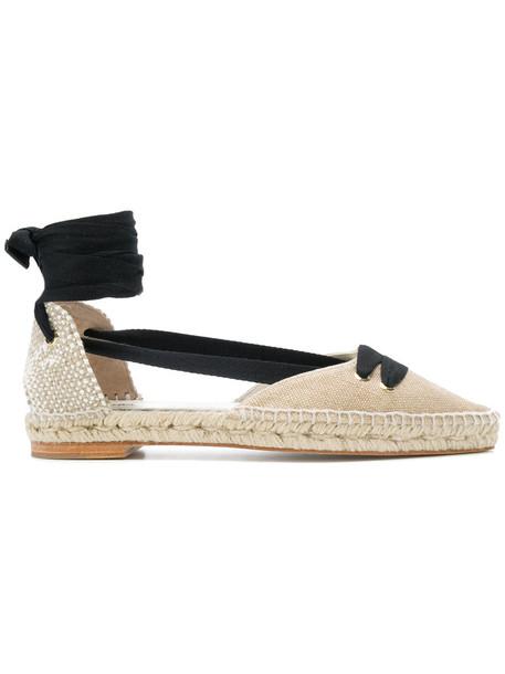 CASTAÑER women espadrilles lace leather nude cotton shoes