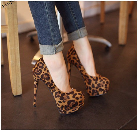 women pumps solid color woman high heeled platform square leopard shoes       JH SE 005-in Pumps from Shoes on Aliexpress.com