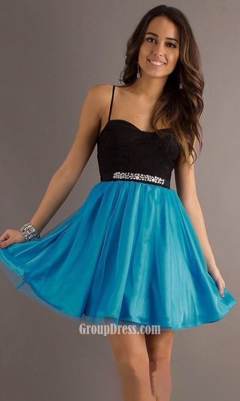 short black and blue graduation wear for prom/graduation/homecoming