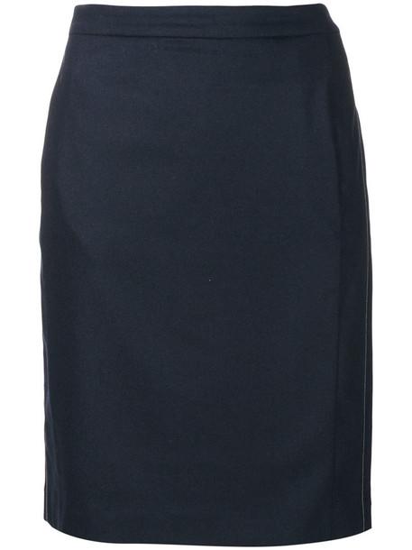 Fabiana Filippi skirt pencil skirt short women spandex blue
