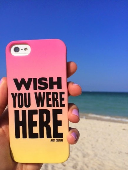 jewels iphone case beach juicy couture cute pink love