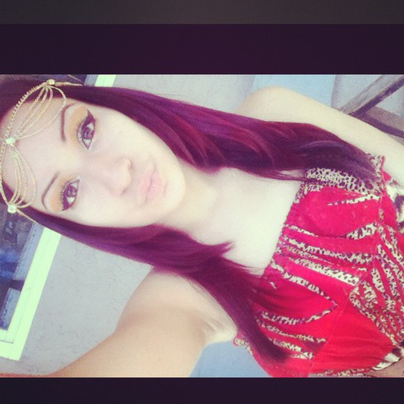egyptian gold hair accessories trending head chain red hair red cheetah print leopard print purple hair make up diamonds